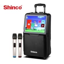 "Shinco חיצוני חכם WiFi רמקול עם 15 ""HD מסך DVD נגן עבור אנדרואיד, Youtube עם אלחוטי מיקרופון"