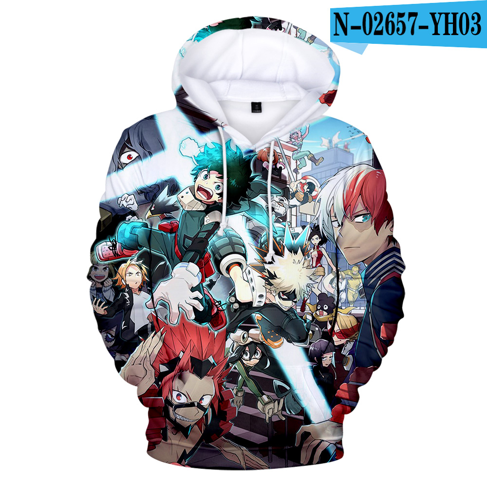 2020 Cute Children Sweatshirt My Hero Academia 3D Hoodies Men/women High Quality Sweatshirt Hoody Autumn Winter Unisex Pullovers