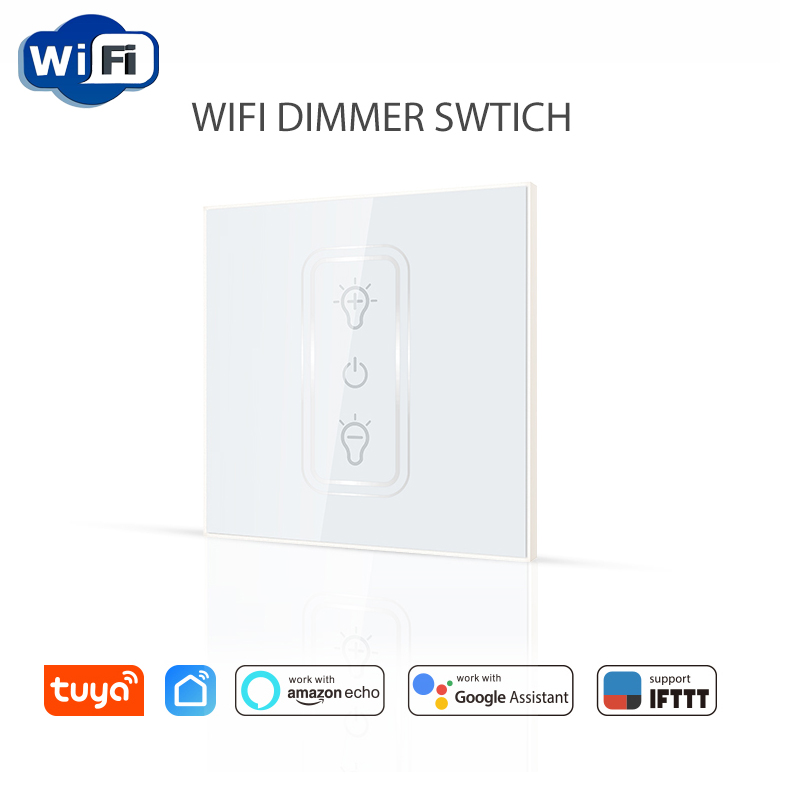 Haozee Wifi Dimmer Switch Smart Touch Light Switch Bulb Dimmer Work With Amazon Alexa Google Assistant