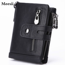 2020 Brand Men Wallets Genuine Leather Short Coin Purse Fashion Hasp Wa