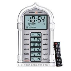 Мусульманские молитвенные часы с азан аалрм и компасом Кибла, настенное время для стола «ашань» в подарок Рамадан