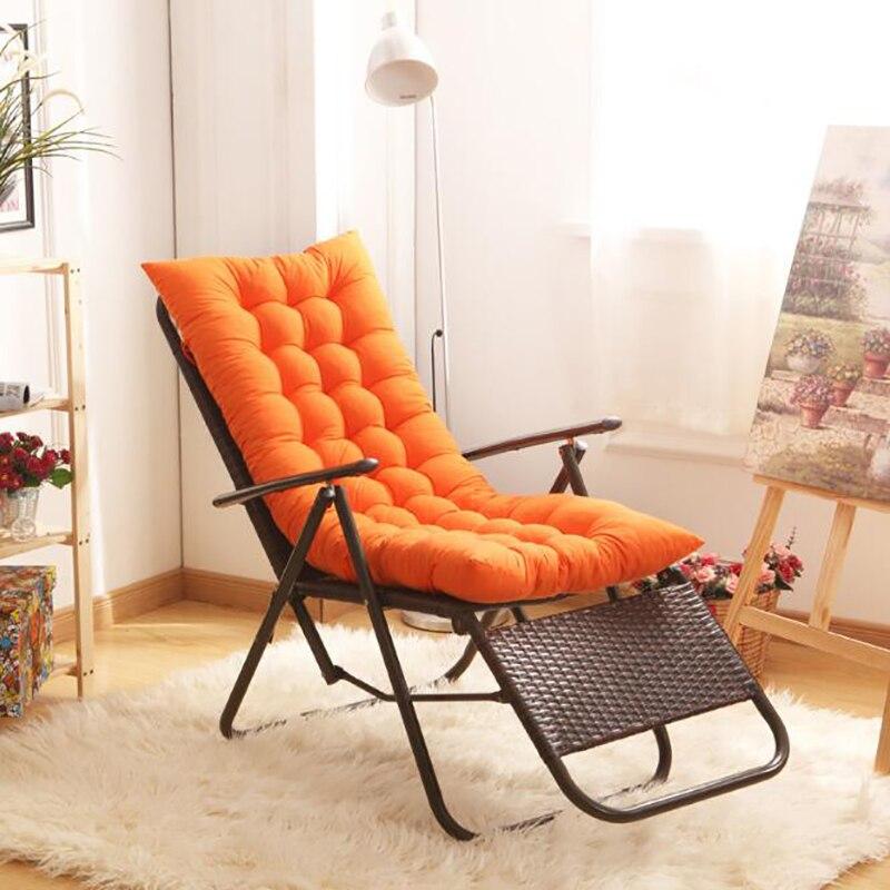 Almofada longa dobrável engrossar cadeira almofada dupla