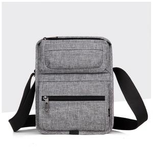 Image 2 - CAI sac à bandoulière multi poches pour tablette, Mini décontracté sacs décole pour adolescents garçons, sacs à main Fashion