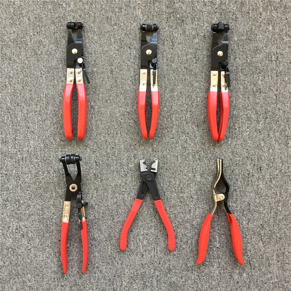 Auto Hose Clamp Plier Set Car Angled Clip Plier Cable Type Flexible Wire Long Pliers Tube Bundle Removal Repair Tool SK1016-1