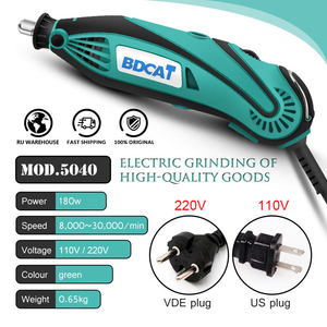 Image 2 - BDCAT 180W חשמלי מטחנות כלי מיני תרגיל ליטוש משתנה מהירות רוטרי כלי עם 207pcs כוח כלים Dremel אבזרים