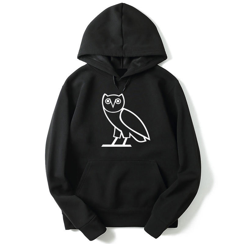 Hot Selling Hoodie Men Print Owl Casual Style Fashion O-neck Men Streetwear Hoodies Fleece Regular Sweatshirt Men