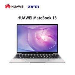 Huawei matebook 13 computador portátil ryzen 5 3500u 16 gb 512 gb 2 k tela cheia fino e leve desempenho notebook impressão digital desbloquear
