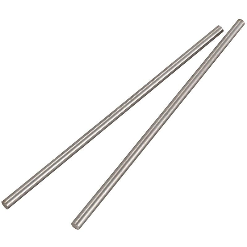 2pcs Steel Round Rod Turning Lathe Bars Tool 6mm X 200mm