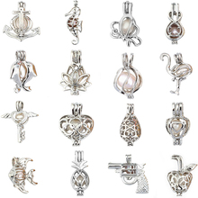 DIY More Than 60 Styles Pearl Cage Jewelry Findings Locket Pendant Essential Oil Diffuser For Oyster Necklace