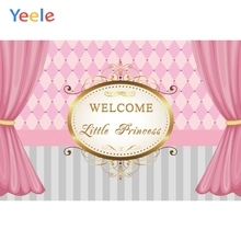 Yeele Princess Baby Shower Curtain Photography Backgrounds Children Birthday Party Custom Photographic Backdrop Photo Studio sensfun masha and the bear photography backdrop for photo studio newborn baby shower children birthday party backgrounds