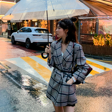 Women Winter Autumn Plaid Suit Jacket 2019  Female Coat Fash