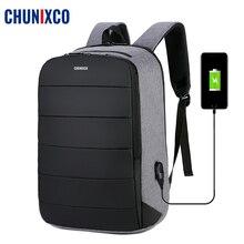 CHUNIXCO Men 15.6inch Laptop Backpack Male Waterproof Oxford Business Travel Backpacks Men Brand USB Charging Casual Light Bags все цены