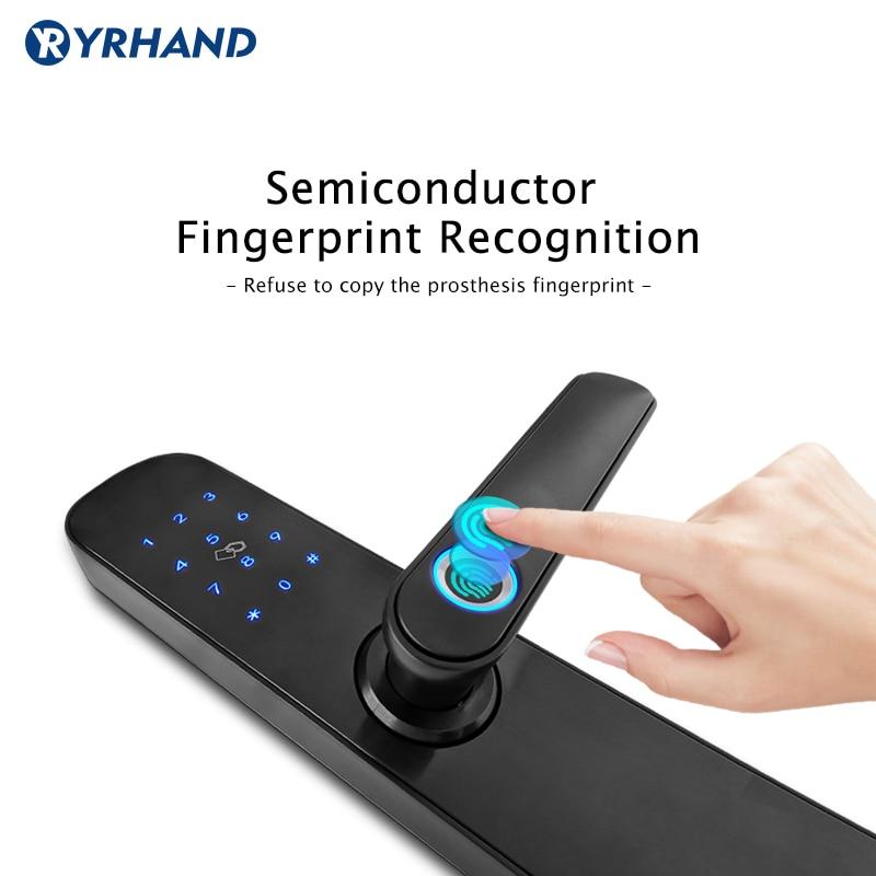 Image 5 - Fingerprint Door Lock With TTlock APP  Keyless Wifi Smart Lock  Fingerprint Password Electronic Door Lock For Home Security-in Electric Lock from Security & Protection