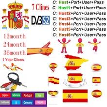 Cccam Europa  Spain For 1 2 3 Year Europe Spain Portugal France DVB-S2 Freesat V7,V7S HD,V8 Super,V8 NOVA Satellite receiver