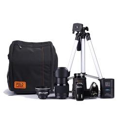 HD D7300 Digital Video Camera 33Million Pixel Auto Focus Professional SLR Video Camera 24X Optical Zoom 3 HD Lens+Tripod+Bag