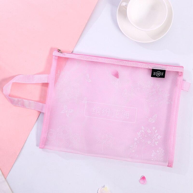 Loveот 1 шт./партия милая сумка для хранения Стильный Простой A4 сумка для файлов сетка прозрачная сумка типа тоут Канцтовары офисный школьный поставка - Цвет: 1