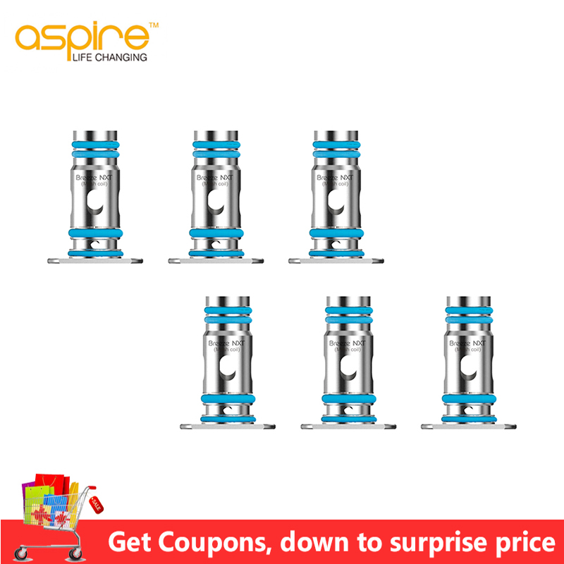 In STOCK! 9/6pcs Aspire Breeze NXT 0.8ohm Mesh Coil Electronic Cigarette Evaporator For Aspire Breeze NXT Pod Kit Vaporizer