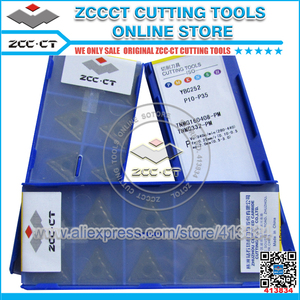 Image 2 - 50pcs ZCC TNMG160408 PM YBC252 TNMG 160408 PM ZCCCT Carburo Cementato CNC Inserti TNMG160408 PM utensili da taglio taglierina