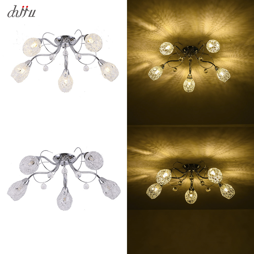 New led Chandelier For Living Room Bedroom Home chandelier 25W 5 E14 bulb Led hanglight lustre crystal Chandeliers Lamp