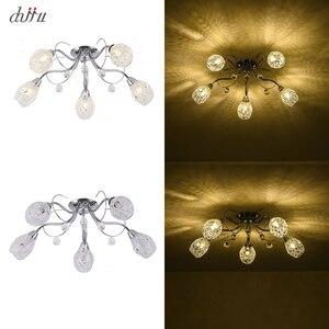 Image 5 - New led Chandelier For Living Room Bedroom Home chandelier 25W 5 E14 bulb Led hanglight lustre crystal Chandeliers Lamp