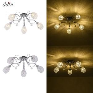 Image 5 - חדש led נברשת לסלון חדר שינה בית נברשת 25W 5 E14 הנורה Led hanglight זוהר קריסטל נברשות מנורה