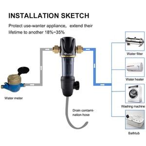 Image 4 - Wheelton Pre Water filter mechanical backwashing protect appliance(reverse osmosis water purifier,heater,etc.) 40UM purification
