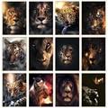 Животные Арт холст настенные картины художественные плакаты и принты лев тигр леопард Животные Арт холст картины украшение дома