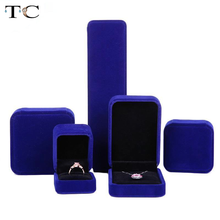 Velvet Jewelry Box Necklace Holder Box Earrings Ring Box Jewellery Organizer Jewelry Boxes and Packaging