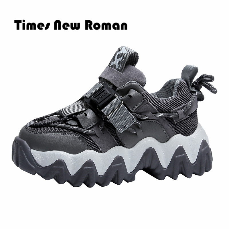 Times New Roman Big Size 35-43 Casual Sneakers for Women Height Increasing Women's Sneaker Fashion Buckle Strap Shoes Woman 6
