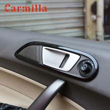 Carmilla 4 unids/set accesorios del coche Interior manija de la puerta cubierta de cuenco de etiqueta para Ford Fiesta MK7 2009-2014