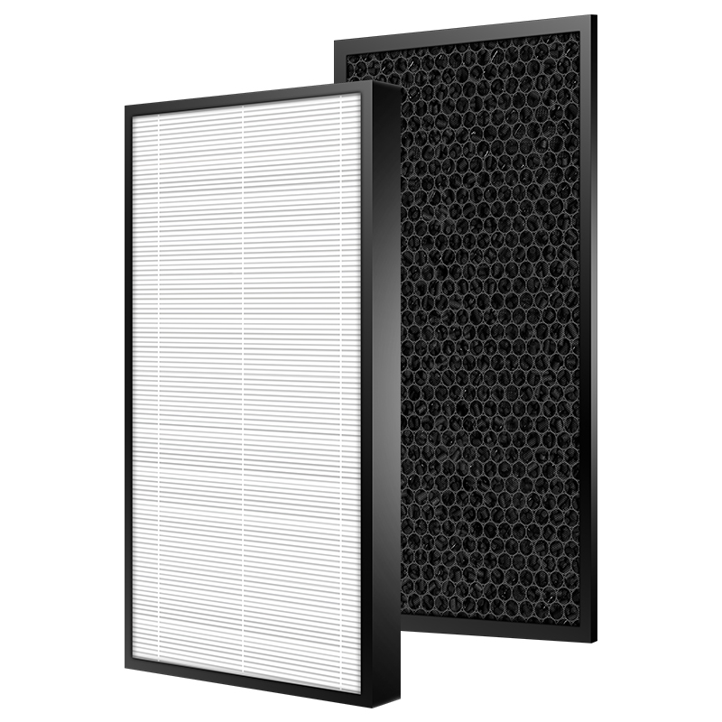 Air Purifier Filter For Philips AC1215 HEPA Filter 360*275*27mm + Activated Carbon Filter 360*275*10mm Set
