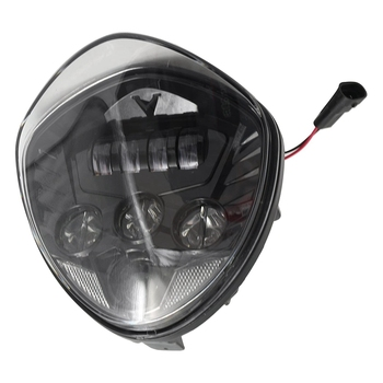 1 Pcs Black Motorcycle LED Headlight For Victory Motorcycle Cross Road Cruisers 2010-2016