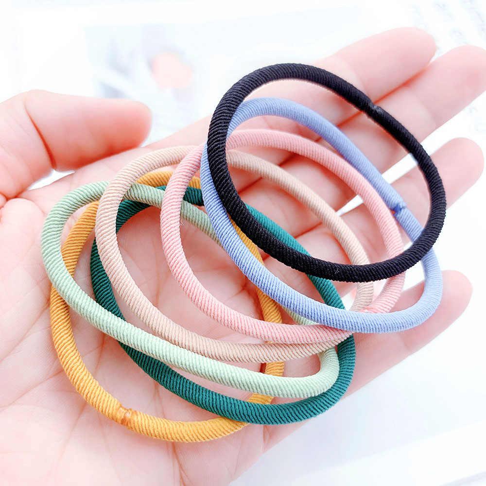10 pcs Mini แฟชั่น Candy สียางผูกแหวนผมเชือกผู้ถือหางม้าสำหรับเด็กอุปกรณ์เสริมผม