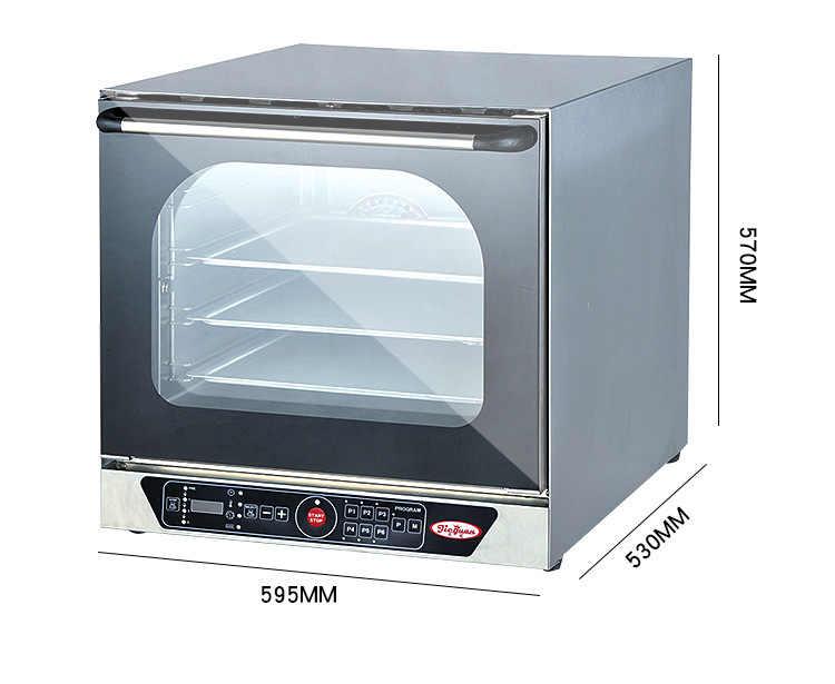 EB-4B Điện Đầy Đủ Theo Quan Điểm Nóng Lưu Thông Không Khí Điện Dạng Bình Xịt Thương Mại Đa chức năng Lò Nướng PizzaTart