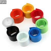 Portable 8Pcs / Set Multi-Color Round PVC Heat Shrink Tubing 2m*18.5mm Tube Wrap Kits Protection Tube for 18650 18500 Battery