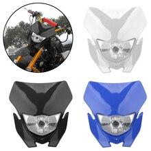 Universal รถจักรยานยนต์รถจักรยานยนต์ Motocross Supermotor ไฟหน้าหลอดไฟประเภท H4