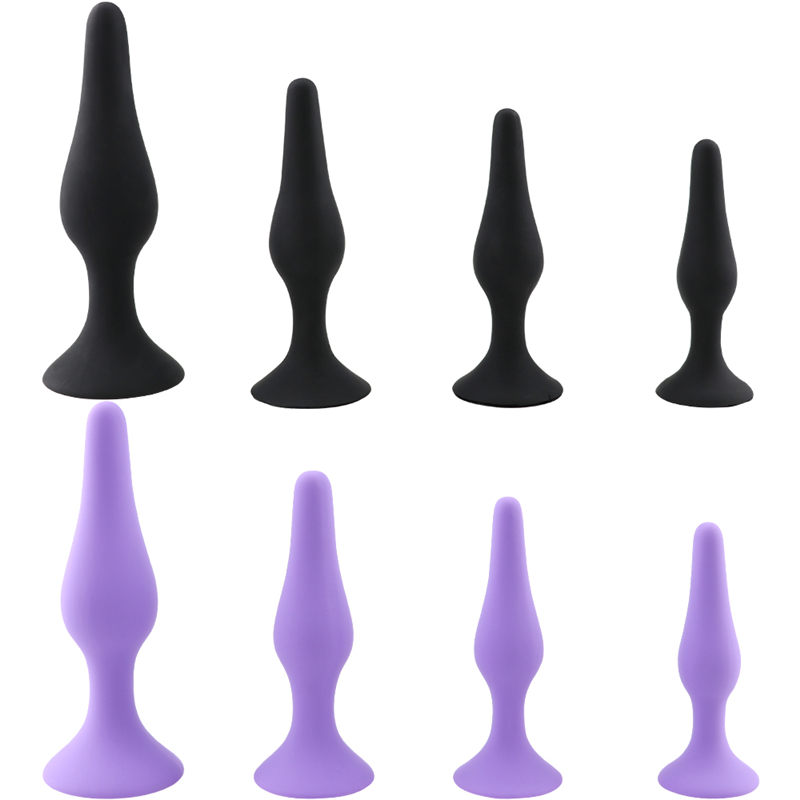 <font><b>Sex</b></font> Black Butt Plug Beginner Erotic Comfortable Silicone Adult game Anal Dilator <font><b>Sex</b></font> <font><b>Toys</b></font> For Women <font><b>Gay</b></font> Anus Prostate Massager image