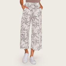 Wasteheart Summer Autumn Women Fashion White Long Loose Pants Casual Pants High Waist Mid Calf Female Pant Printed M L Plus Size stylish mid waisted printed loose fitting exumas pants for women