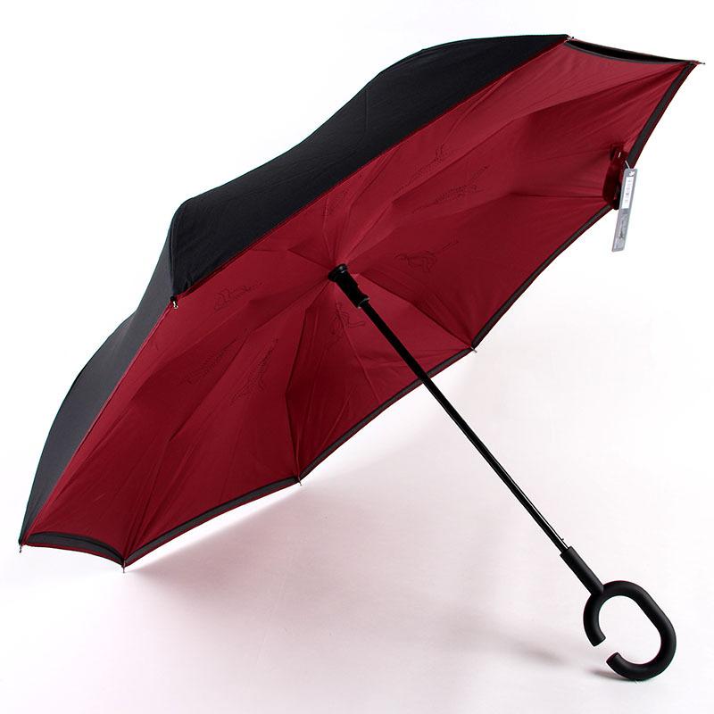 Aurora Factory Wholesale Advertisement Customizable BM1613 Hands-Free Straight Pole Automatic Reverse Umbrella qi che san All-We