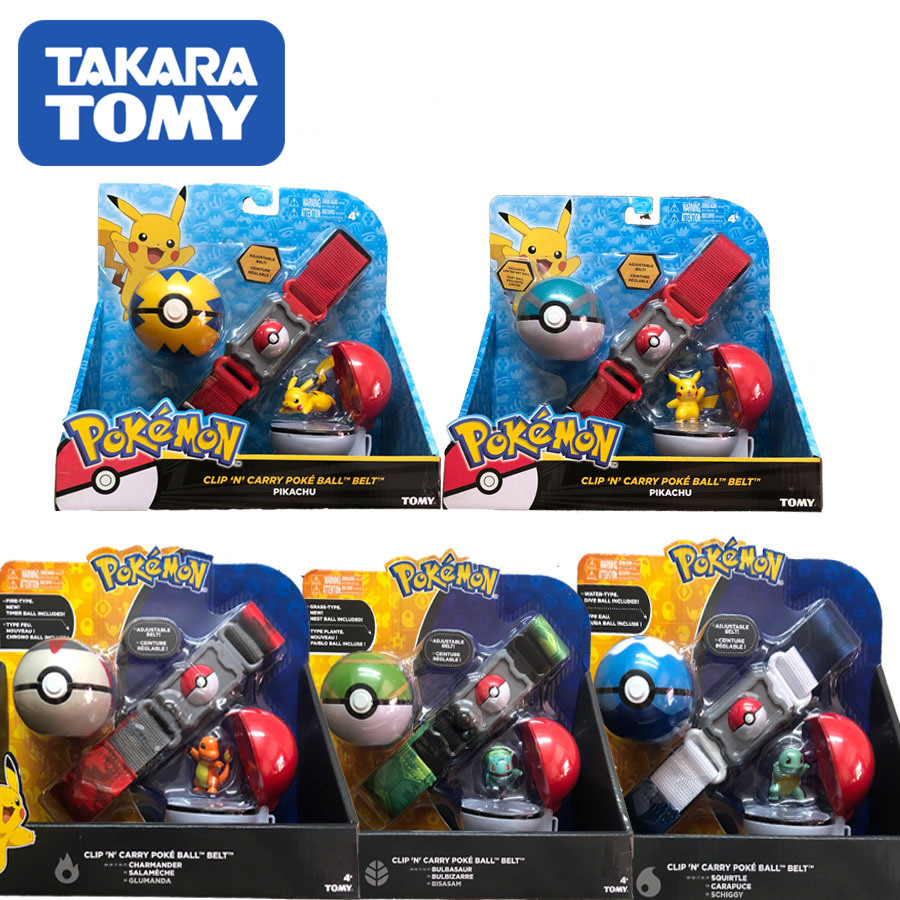 TAKARA TOMY 2020 Genuine US Version Pokemon Master Elf Ball Belt Set Telescopic Toys For Children Gift