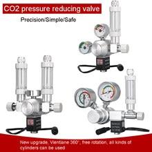Zrdr aquário regulador de co2 válvula de retenção solenóide magnético aquário bolha contador ferramenta tanque peixes válvula redução pressão
