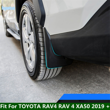 Lapetus dianteiro e traseiro mud flaps guarda pára lamas capa guarnição apto para toyota rav4 rav 4 xa50 2019 2020 2021 plástico