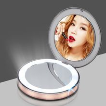 LED Lighted Makeup Mirror 1/3X Magnification Rechargeable Cosmetic Mirrors