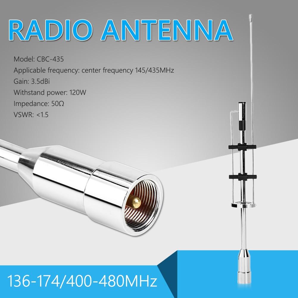 O carro pessoal exterior da antena da faixa dupla parte a decoração CBC-435 da frequência ultraelevada vhf 145/435mhz para o conector móvel do rádio PL-259