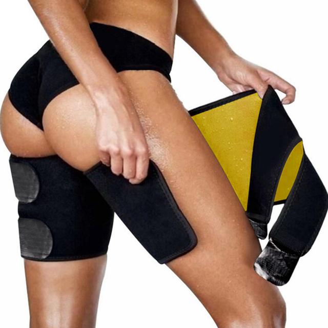 Slim Thigh Trimmer Leg Shapers Slender Slimming Belt Neoprene Sweat Shapewear Toned Muscles Band Thigh Slimmer Wrap S/M 3