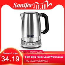 1.7L Electric Kettle Stainless Steel 2200W Household Kitchen Fast Heating Boiling Teapot Pot With Temperature Adjusted Sonifer