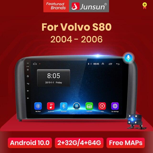 Junsun V1 pro 2G + 128G Android 10 dla Volvo S80 1998   2006 Radio samochodowe multimedialny odtwarzacz wideo nawigacja GPS 2 din dvd