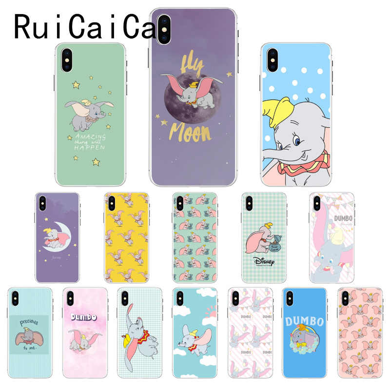 Ruicaica Cartoon Dumbo olifant TPU Telefoon Case Cover Shell voor iPhone 8 7 6 6S Plus 5 5S SE XR X XS MAX 10 Coque Shell