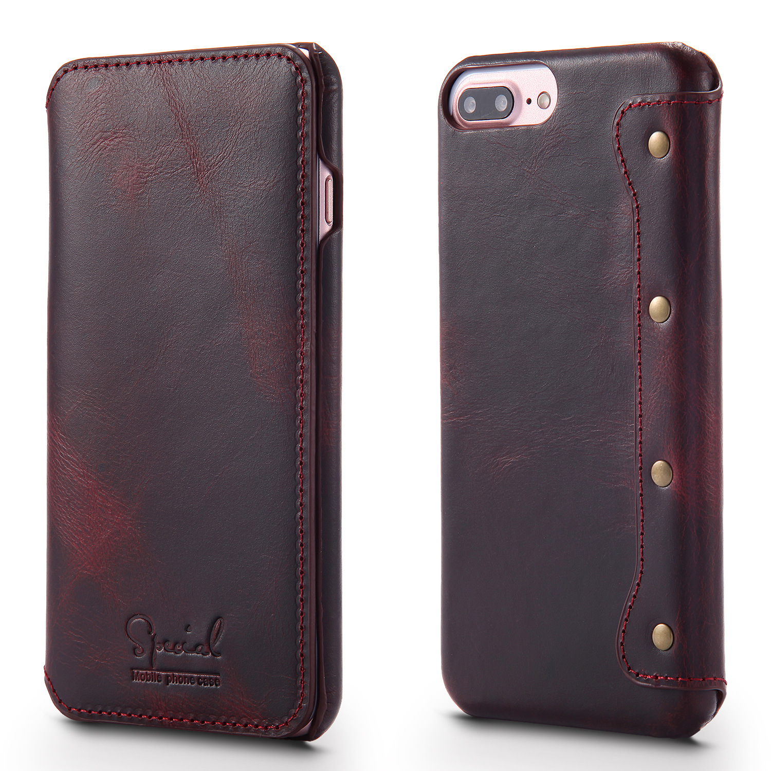 4 Colors Real Genuine Leather Phone Cover For New Iphone SE 4.7\'\' 2020 Flip Case With Card Pocket Vintage Retro Business Bags