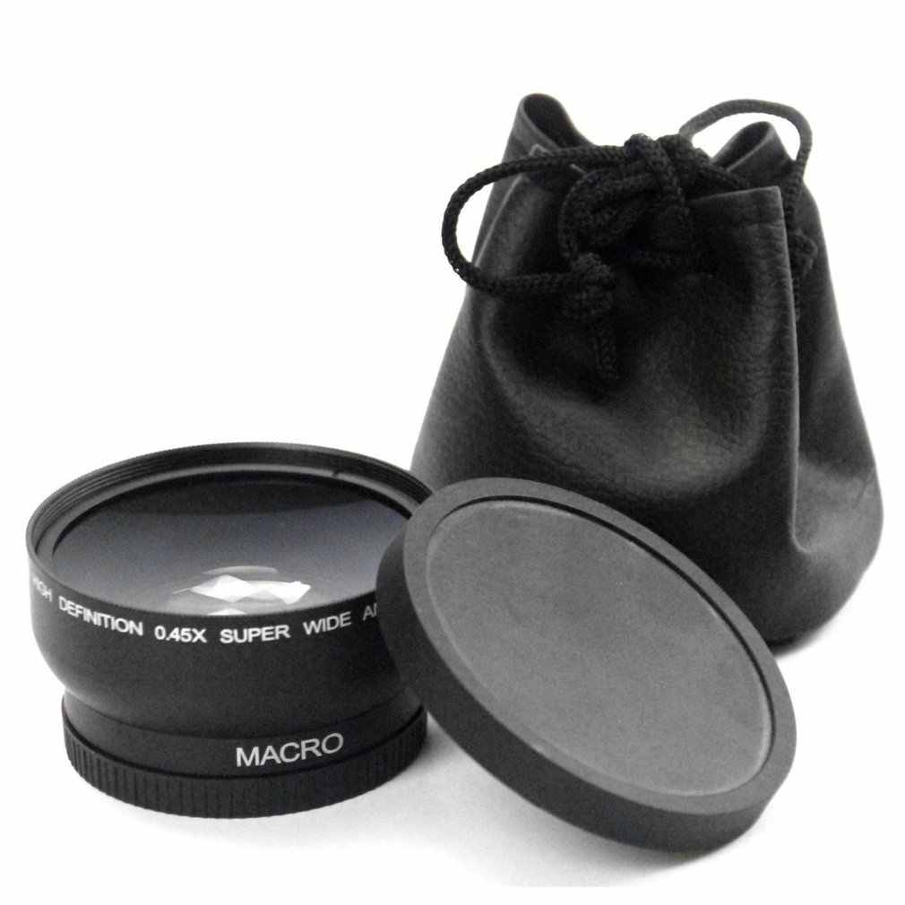 58MM 0.45x Wide Angle Lens 4 for Canon EOS 4000D, 2000D 18-55MM Lens Univeasal Camera Accessories